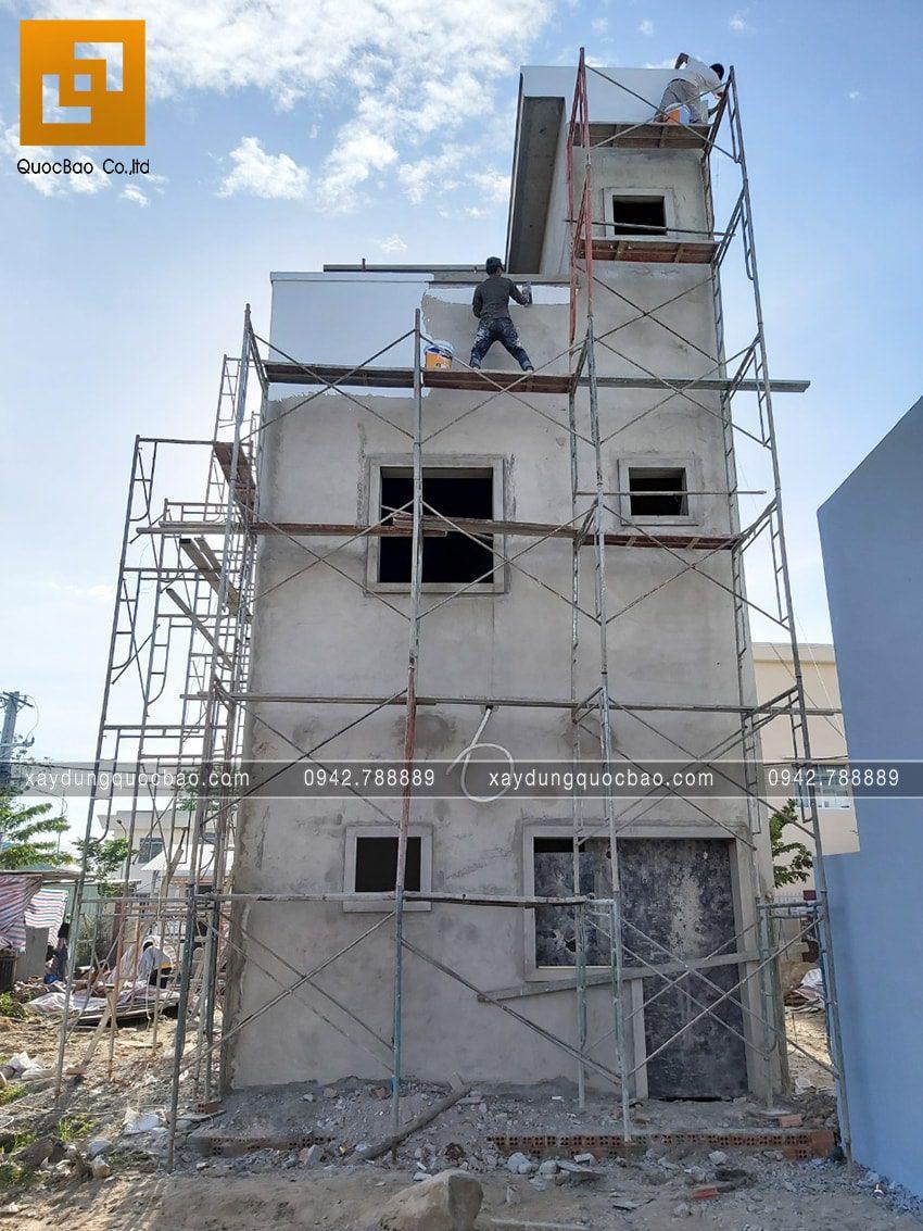 Thi công hoàn thiện nhà 3 tầng chị Thủy - Ảnh 3