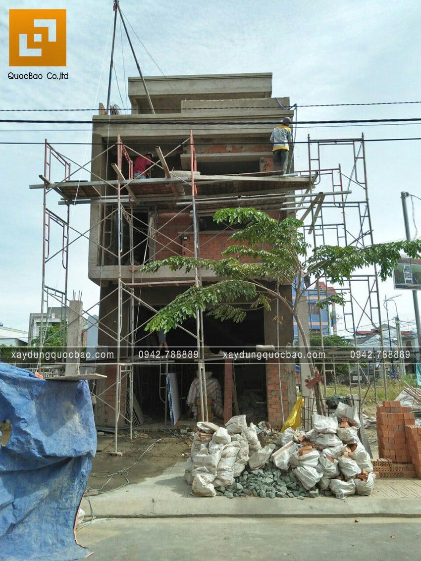 Thi công hoàn thiện nhà 3 tầng chị Thủy - Ảnh 1