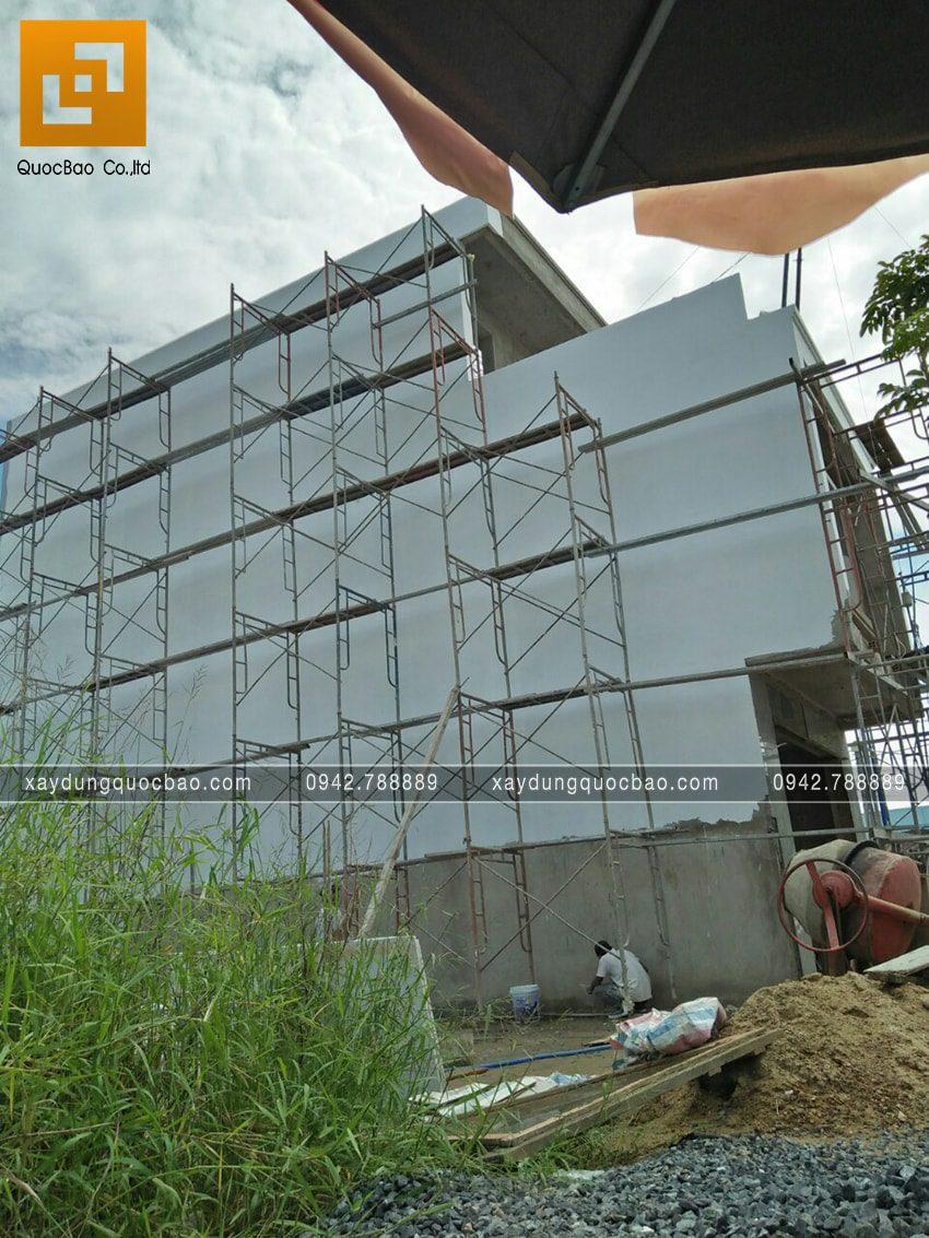 Thi công hoàn thiện nhà 3 tầng chị Thủy - Ảnh 13