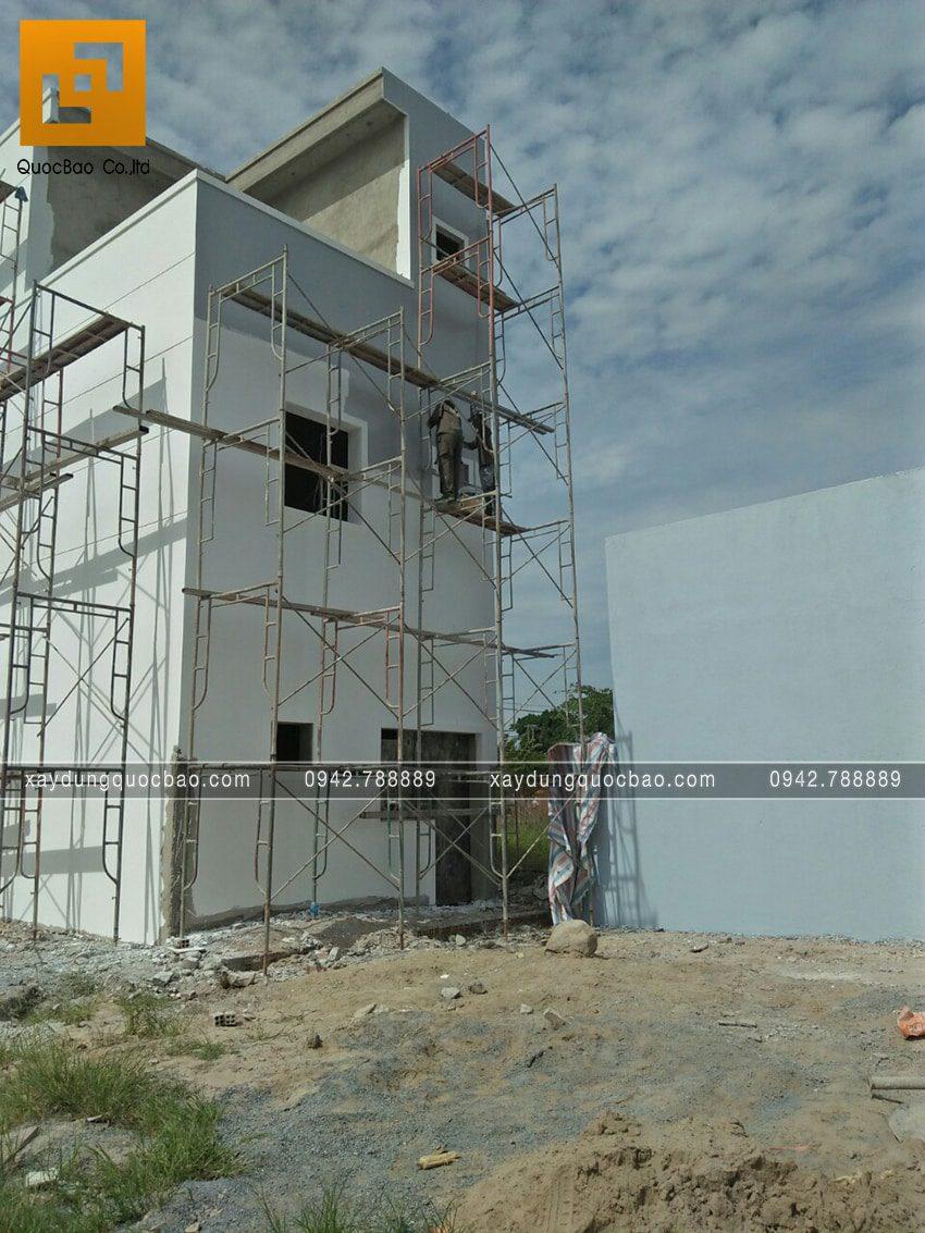 Thi công hoàn thiện nhà 3 tầng chị Thủy - Ảnh 7