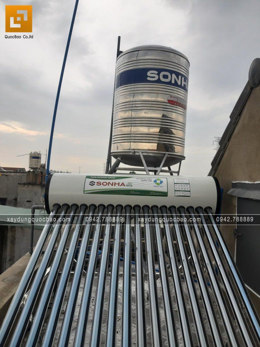 Lắp đặt hệ thống máy nước nóng năng lựng mặt trời
