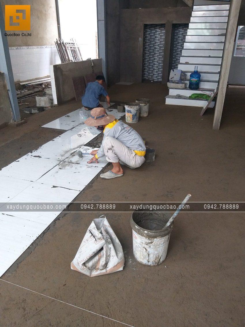Công tác thi công ốp lát gạch - Ảnh 2