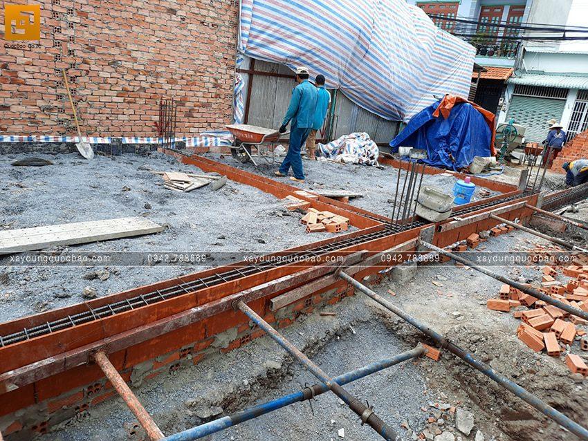 Thi công phần móng nhà mái lệch 2 tầng - Ảnh 5