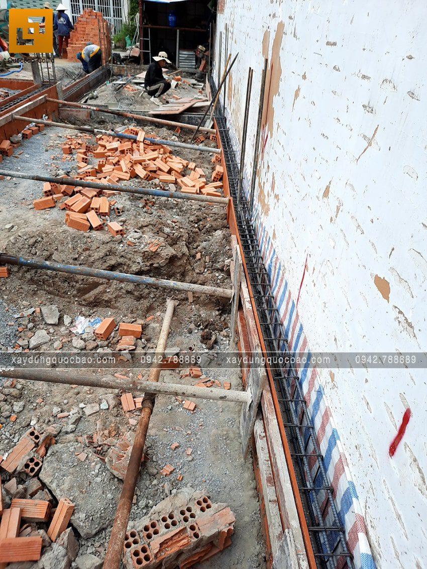 Thi công phần móng nhà mái lệch 2 tầng - Ảnh 4