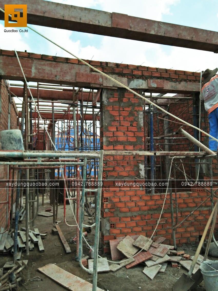 Thi công phần thô tại lầu 3 nhà chị Thủy - Ảnh 3