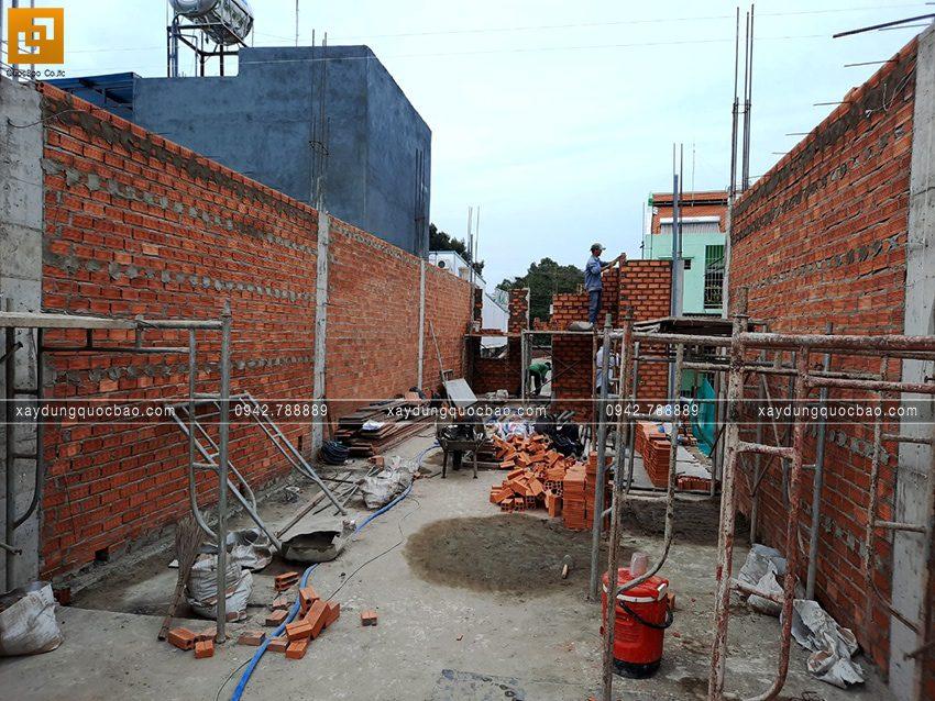 Thi công phần thô nhà 4 tầng của anh Hùng - Ảnh 8