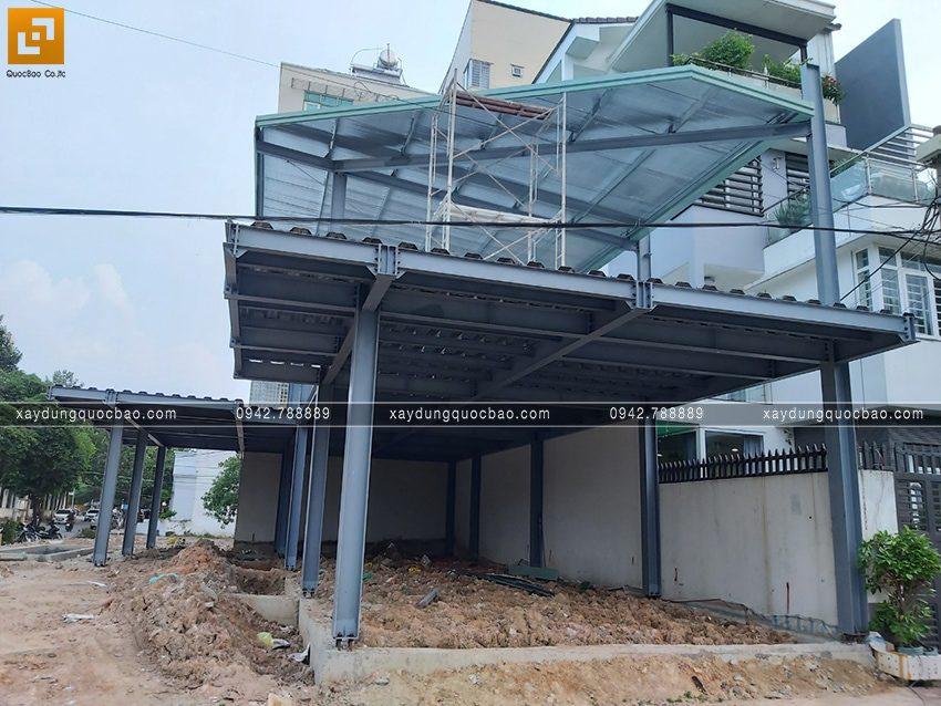 Tiến độ thi công phần thô quán cafe 2 tầng tại Biên Hòa - Ảnh 3