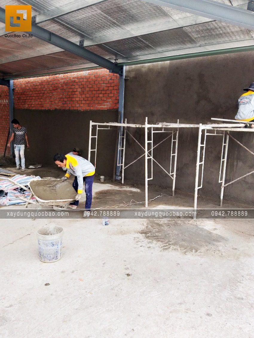 Tiến độ thi công phần thô quán cafe 2 tầng tại Biên Hòa - Ảnh 15