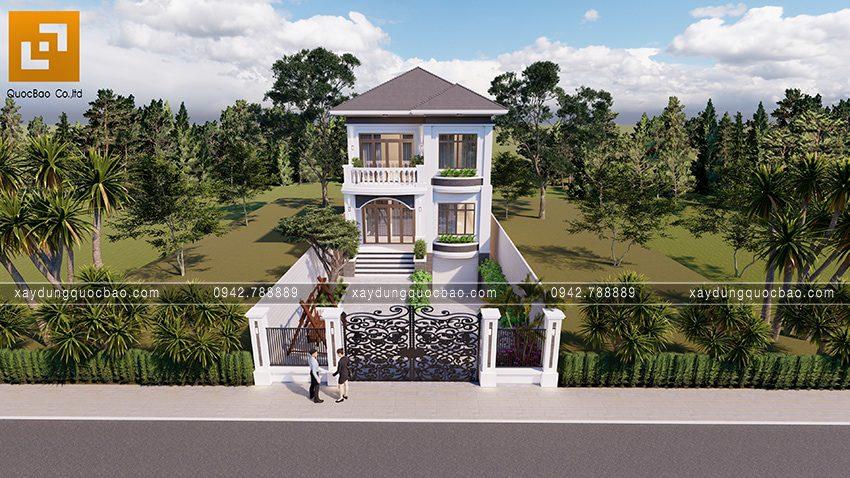 Biệt thự mái Nhật 2 tầng có không gian sân vườn thoáng mát tại Vĩnh Cửu