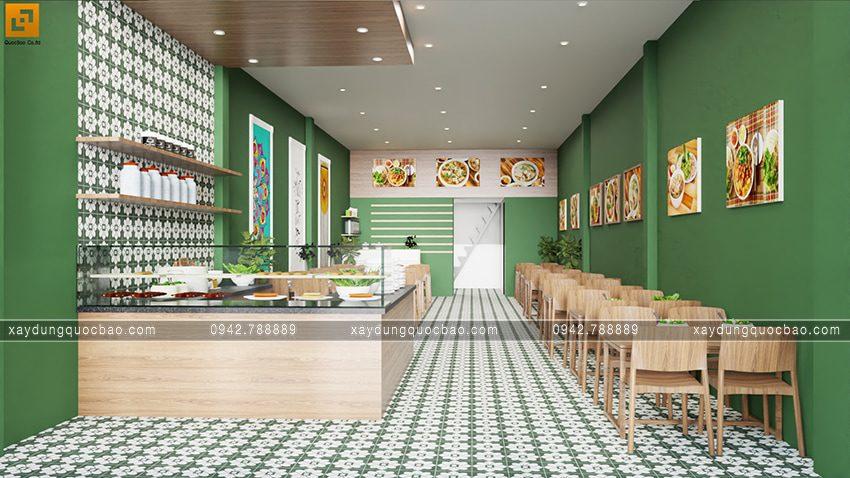 Màu sơn xanh rêu đem đến trải nghiệm mới lạ, không gian ấm cúng