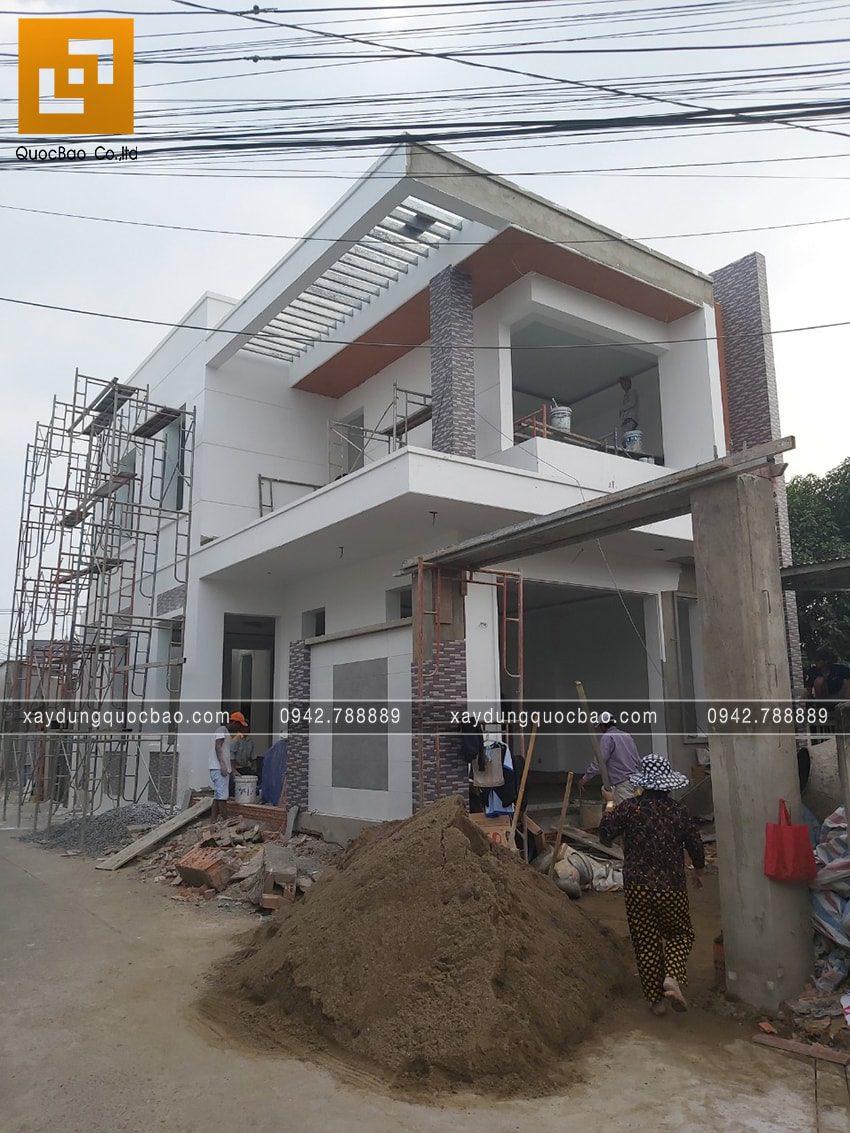 Thi công hoàn thiện nhà phố 2 tầng chị Ngân - Ảnh 16