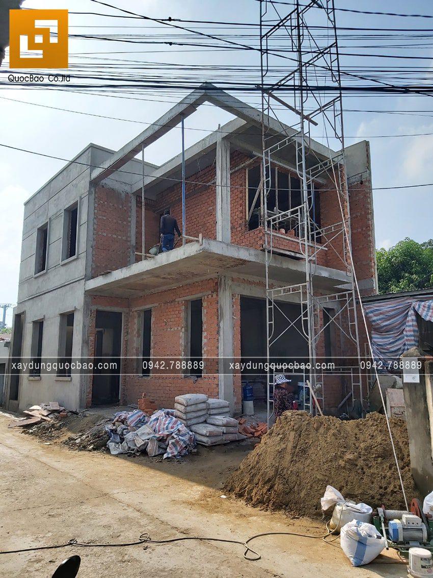 Thi công hoàn thiện nhà phố 2 tầng chị Ngân - Ảnh 2