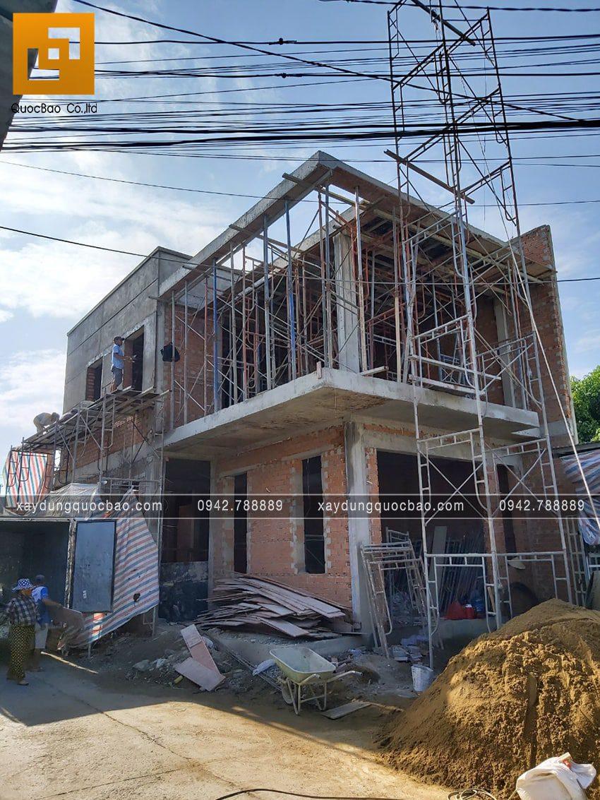 Thi công hoàn thiện nhà phố 2 tầng chị Ngân - Ảnh 1