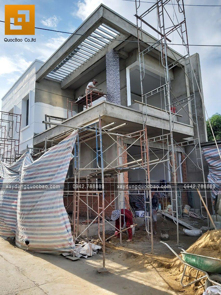 Thi công hoàn thiện nhà phố 2 tầng chị Ngân - Ảnh 15