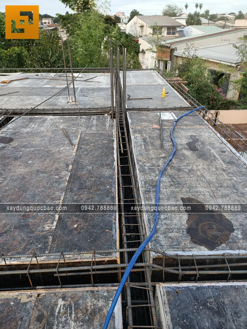 Lắp đặt ván khuôn cốp pha dầm sàn lầu 1 - Ảnh 5