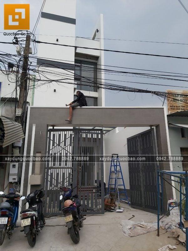 Công tác thi công hoàn thiện nhà 4 tầng - Ảnh 13