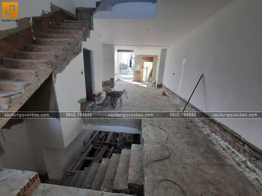 Công tác thi công hoàn thiện nhà 4 tầng - Ảnh 1