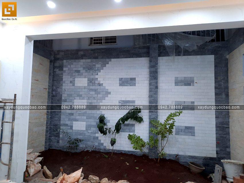 Thi công hoàn thiện nhà mái lệch 2 tầng - Ảnh 12