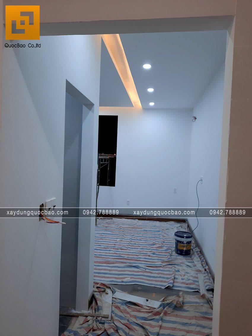 Thi công hoàn thiện nhà mái lệch 2 tầng - Ảnh 8