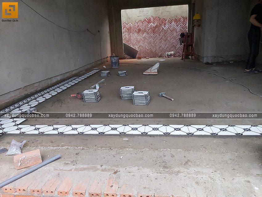Thi công hoàn thiện nhà song lập 3 tầng - Ảnh 9