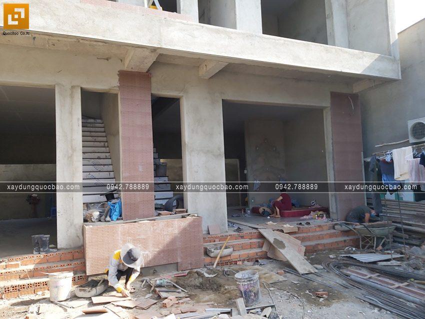 Thi công hoàn thiện nhà song lập 3 tầng - Ảnh 7