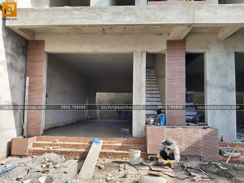Thi công hoàn thiện nhà song lập 3 tầng - Ảnh 6