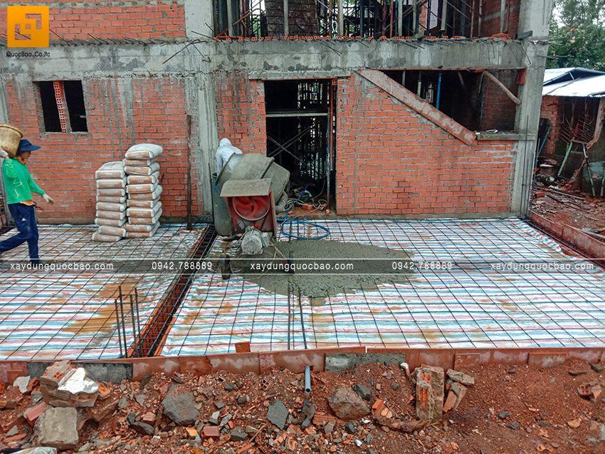 Thi công phần thô tầng trệt biệt thự vườn tại Vĩnh Cửu - Ảnh 41