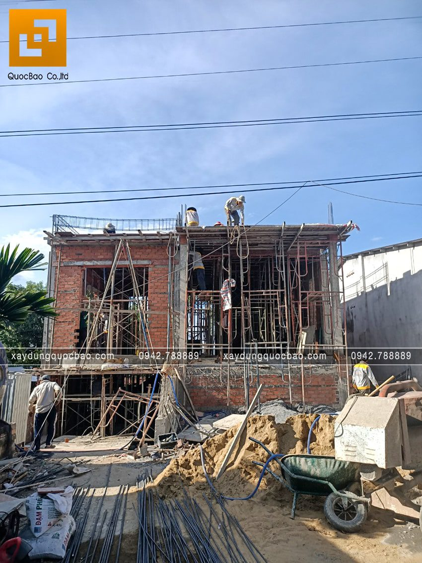 Thi công phần thô tầng trệt biệt thự vườn tại Vĩnh Cửu - Ảnh 33