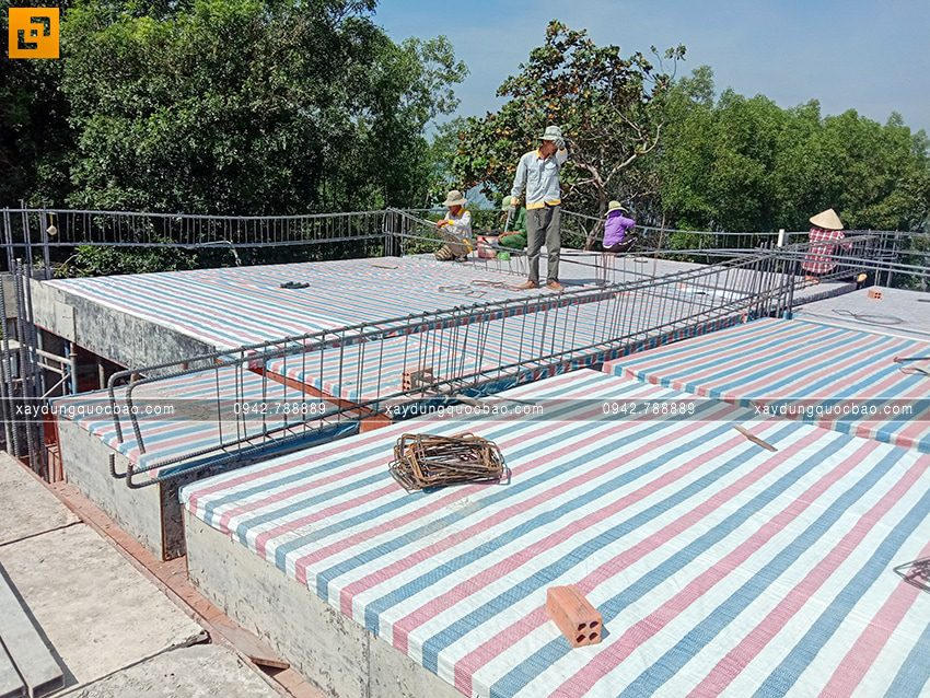 Thi công phần thô tầng trệt biệt thự vườn tại Vĩnh Cửu - Ảnh 32