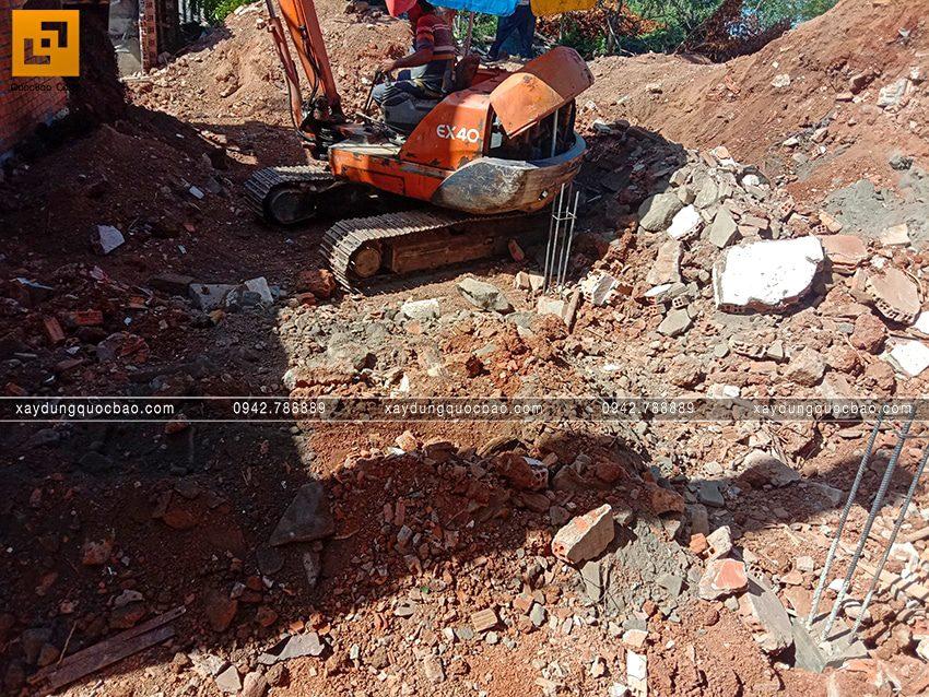 Thi công phần thô tầng trệt biệt thự vườn tại Vĩnh Cửu - Ảnh 23