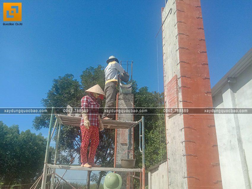 Thi công phần thô tầng trệt biệt thự vườn tại Vĩnh Cửu - Ảnh 20