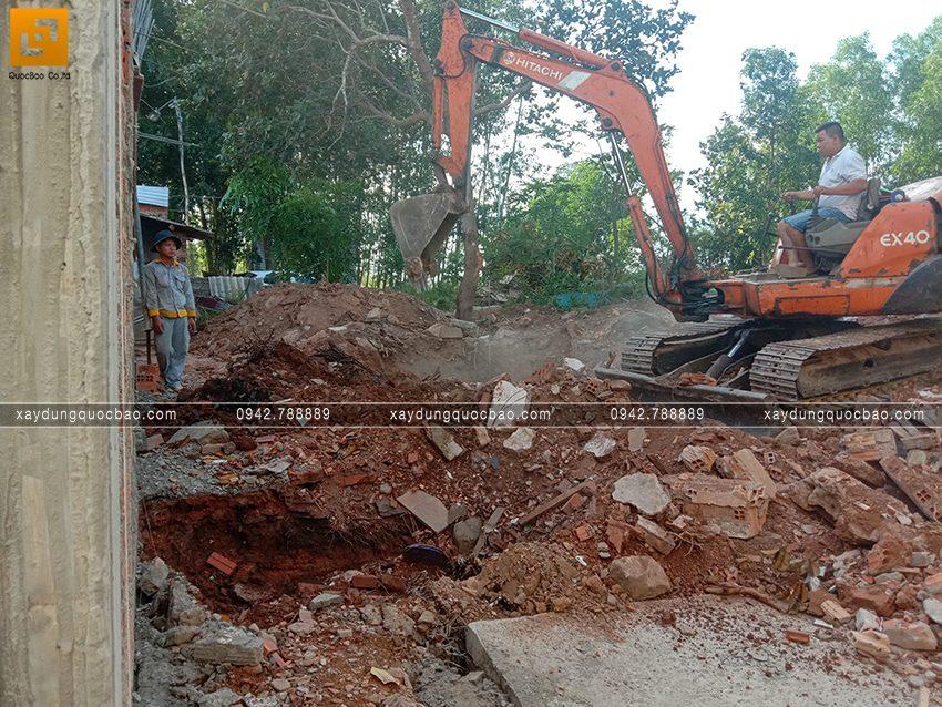 Thi công phần thô tầng trệt biệt thự vườn tại Vĩnh Cửu - Ảnh 16