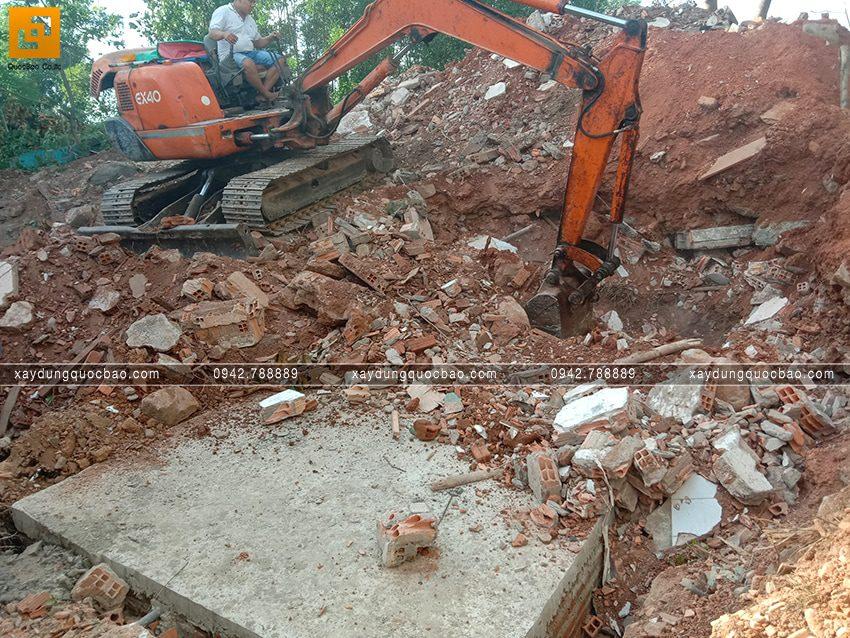 Thi công phần thô tầng trệt biệt thự vườn tại Vĩnh Cửu - Ảnh 15
