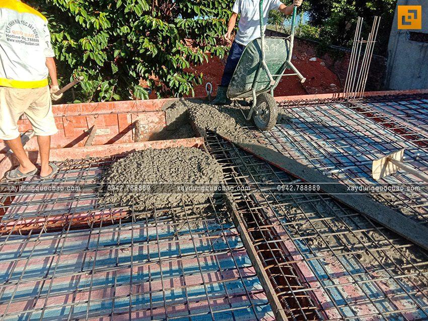 Thi công phần thô tầng trệt biệt thự vườn tại Vĩnh Cửu - Ảnh 13