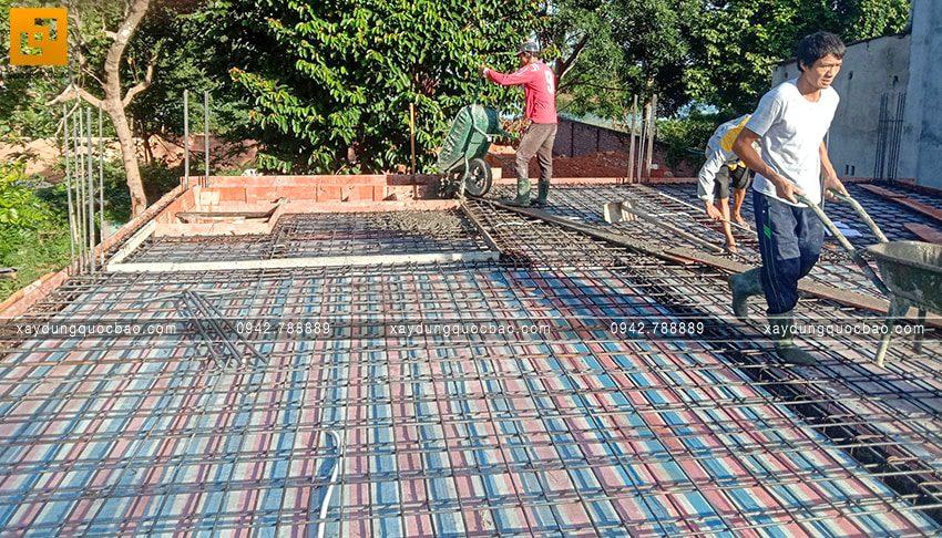 Thi công phần thô tầng trệt biệt thự vườn tại Vĩnh Cửu - Ảnh 12