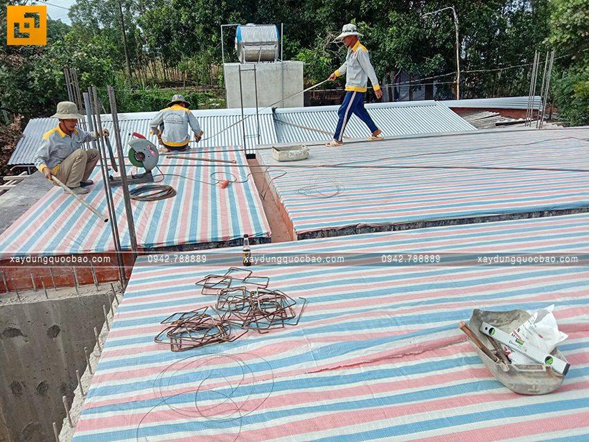 Thi công phần thô tầng trệt biệt thự vườn tại Vĩnh Cửu - Ảnh 8