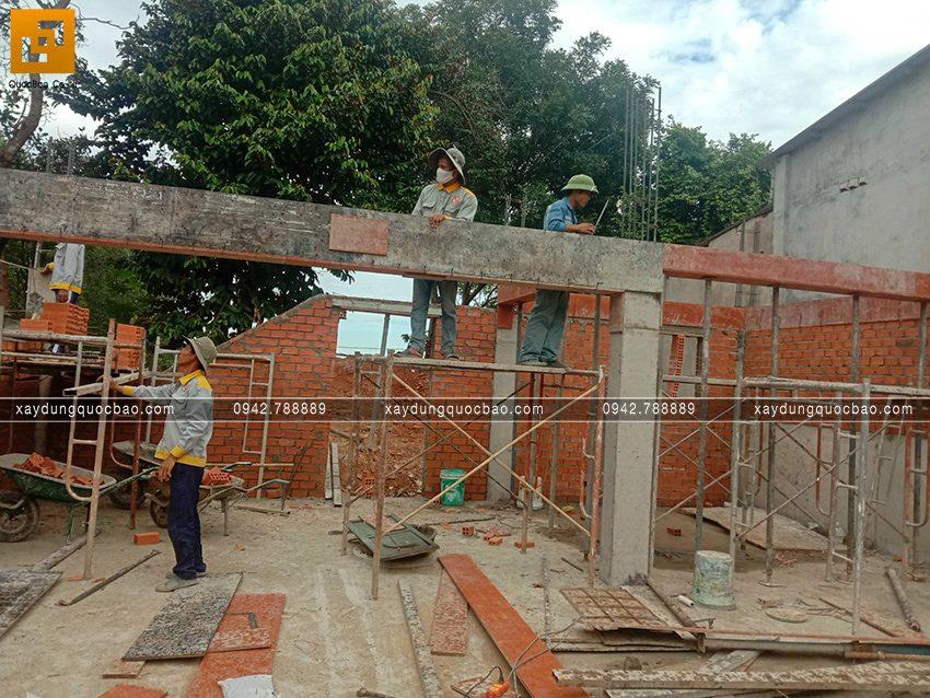 Thi công phần thô tầng trệt biệt thự vườn tại Vĩnh Cửu - Ảnh 5