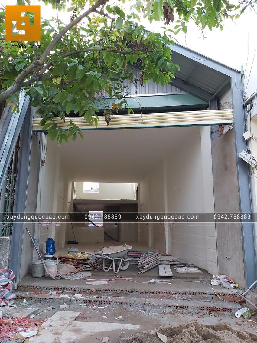 Công tác thi công hoàn thiện quán bún tại Long Thành