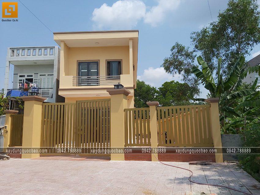 Căn nhà 2 tầng mặt tiền 5m đã hoàn thiện
