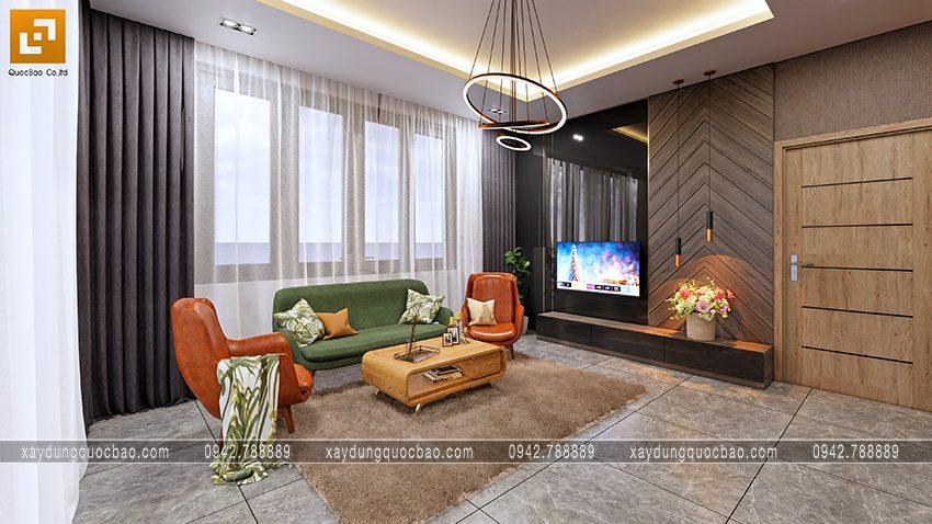 Phòng sinh hoạt chung rộng rãi ở lầu 2, không gian thư giãn của cả gia đình
