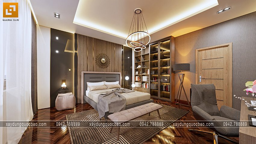 Đèn Led tròn khối cầu mang hiệu ứng độc đáo cho không gian phòng ngủ