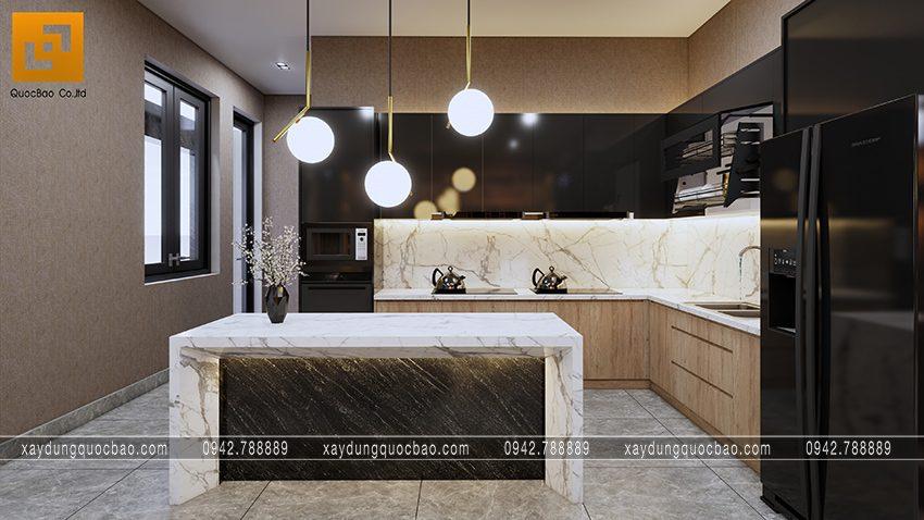 Thiết kế phòng bếp hợp phong thủy theo quy tắc khu tam giác bếp đem lại nhiều lợi ích