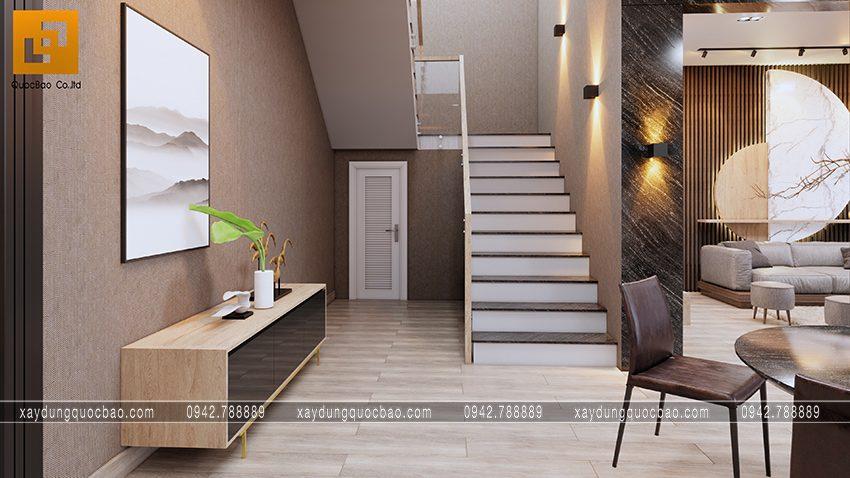 Trang trí không gian chân cầu thang
