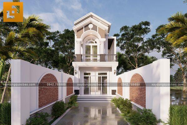 Nhà 2 tầng mái thái tại Bình Dương của gia đình chị Phong