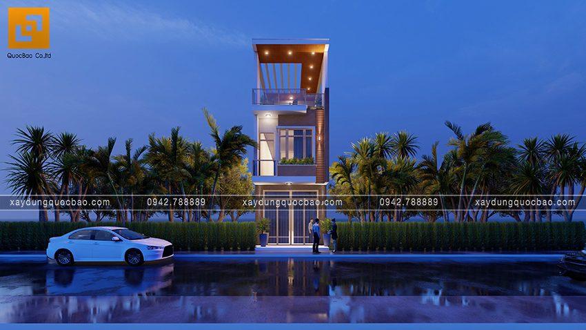 Phối cảnh ngoại thất nhà 3 tầng hiện đại tại Biên Hòa - Ảnh 6