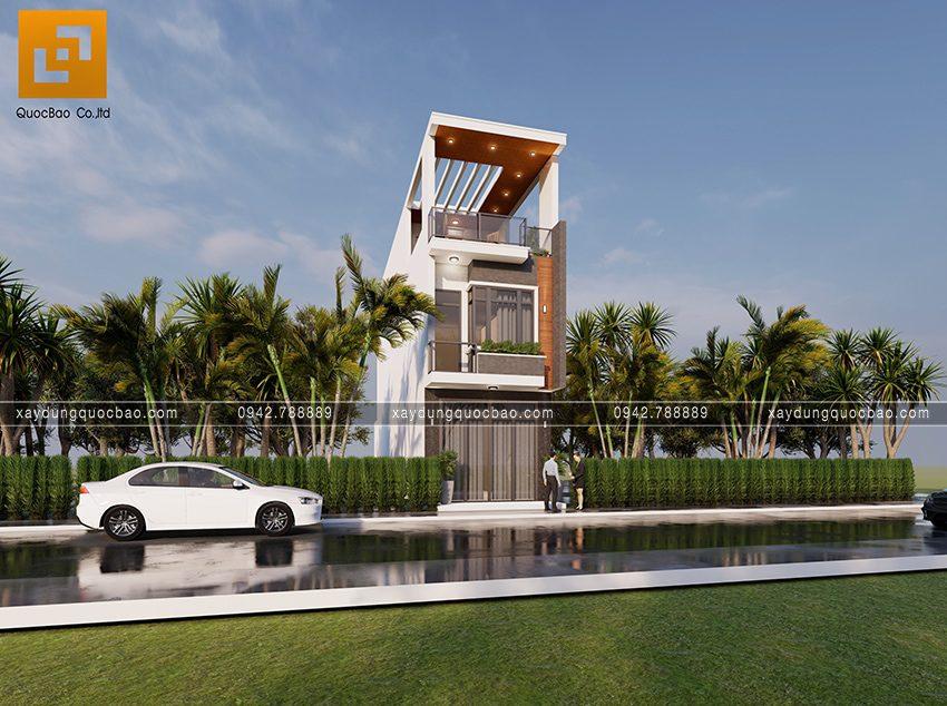 Phối cảnh ngoại thất nhà 3 tầng hiện đại tại Biên Hòa - Ảnh 1