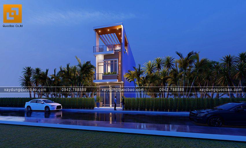 Phối cảnh ngoại thất nhà 3 tầng hiện đại tại Biên Hòa - Ảnh 7