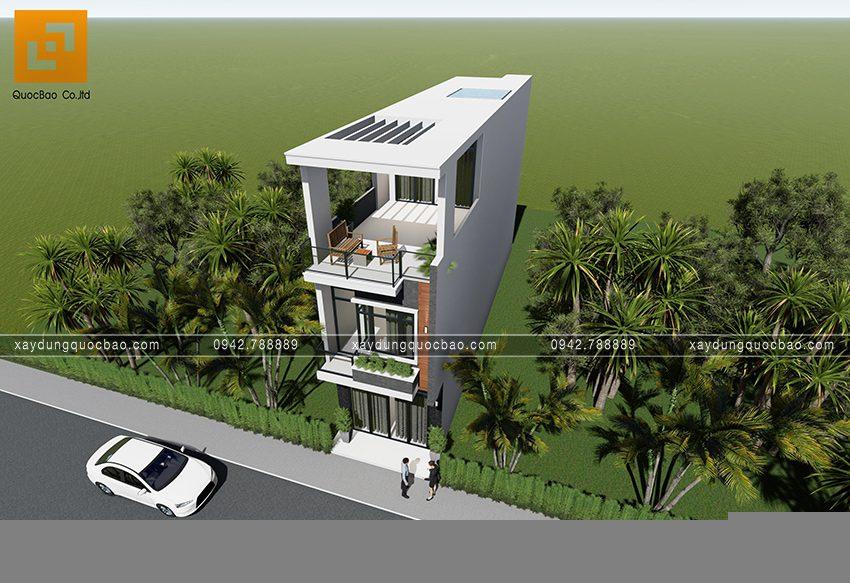 Phối cảnh ngoại thất nhà 3 tầng hiện đại tại Biên Hòa - Ảnh 4