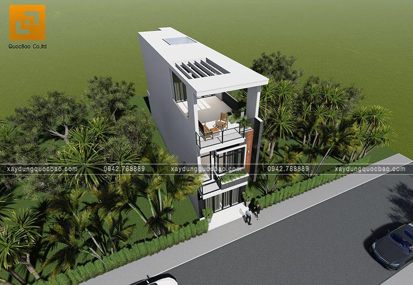Phối cảnh ngoại thất nhà 3 tầng hiện đại tại Biên Hòa - Ảnh 5