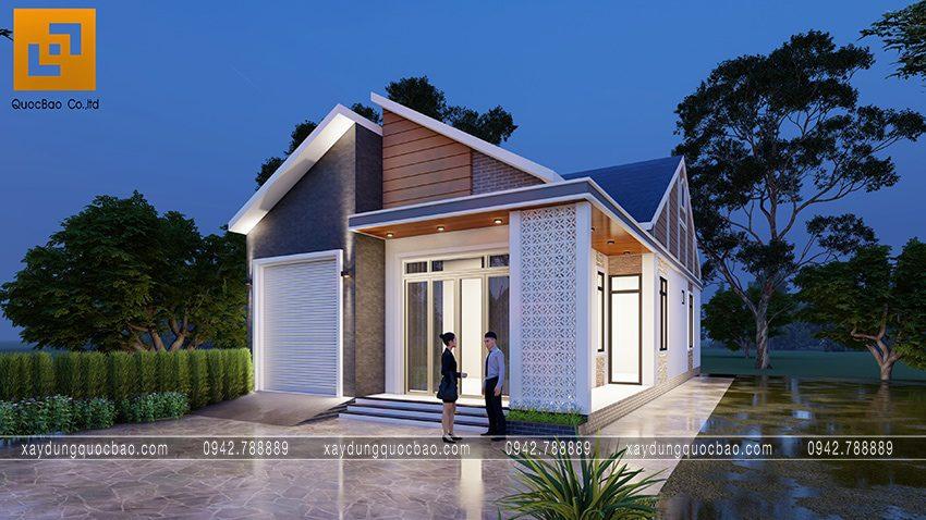 Nhà mái lệch 1 tầng độc đáo tại Vĩnh Cửu - Ảnh 6